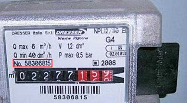 Codice PDR contatore gas
